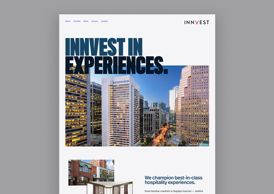 InnVest website home page