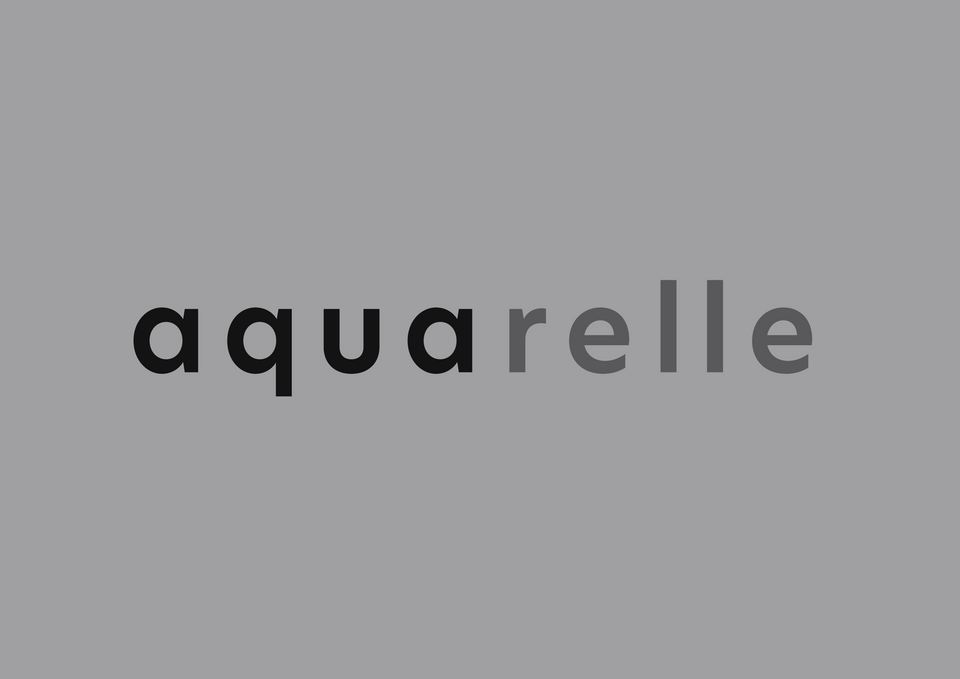 Logo of the word Aquarelle